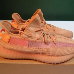 tried on Yeezy clay sneakers clay boost